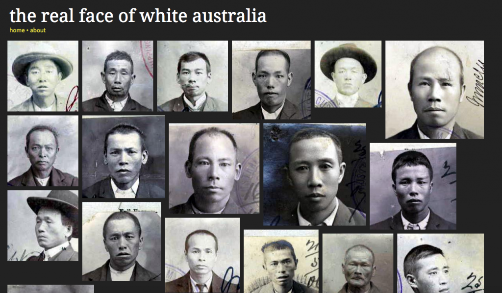 Screenshot from invisibleaustralians.org/faces