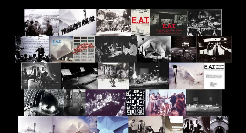 """Image quilt of google image search, """"E.A.T. Experiments in Art & Technology"""""""